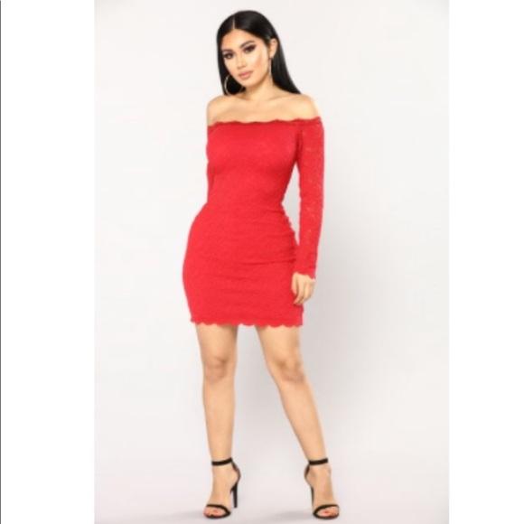 New fashion nova red dress